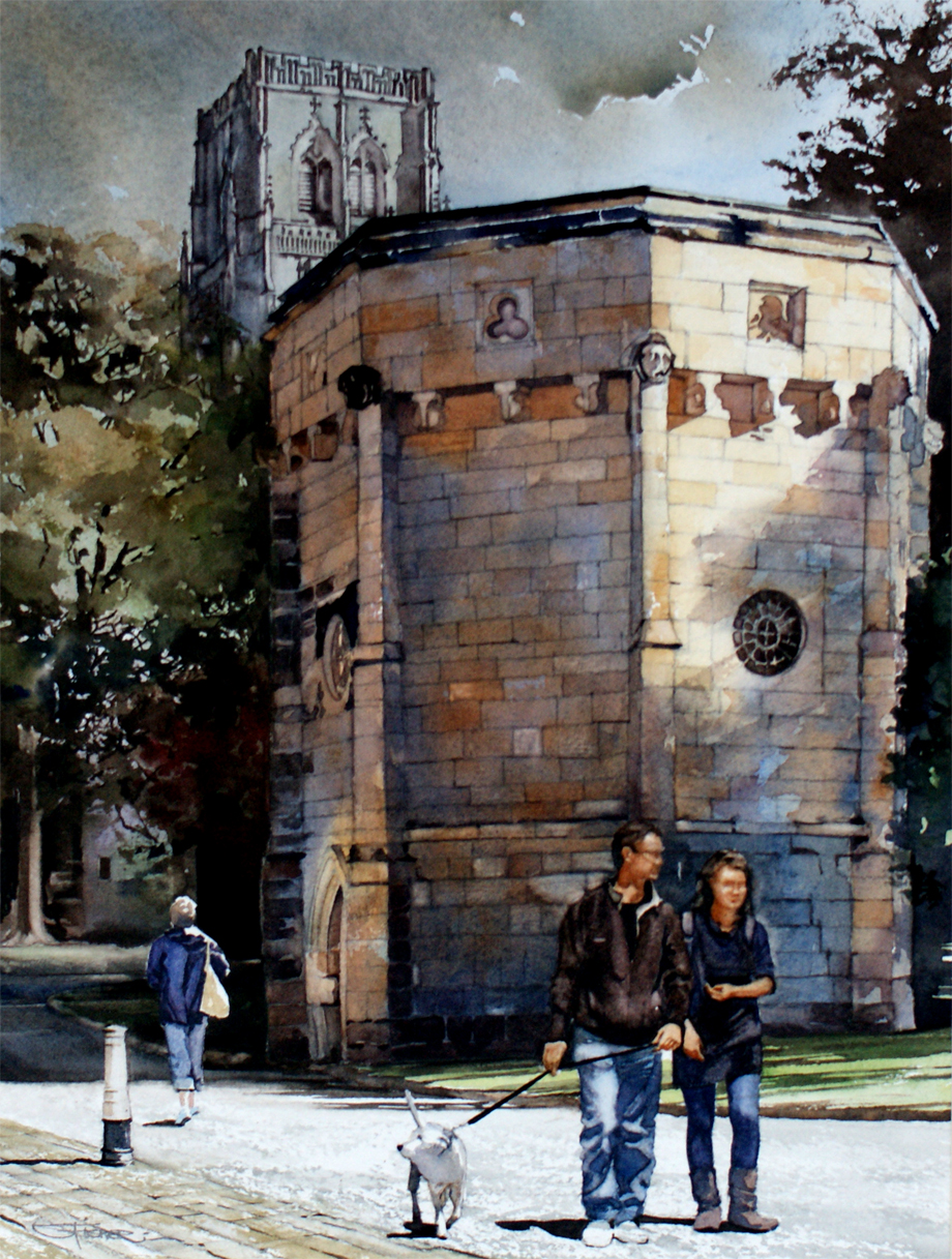 This ancient water tower is situated in the College precinct between the Chorister School and former Cathedral Kitchen.
