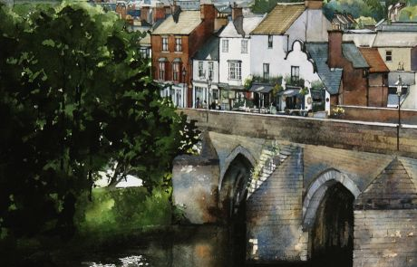 I wanted to paint this view of Elvet bridge from Prince Bishop's Car Park for ages and only it's complexity put me off, though eventually I couldn't resist the challenge.