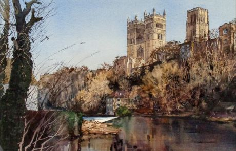 This commissioned painting was produced to commemorate the passing of a Durham man who's ashes were deposited in the river in 2019.